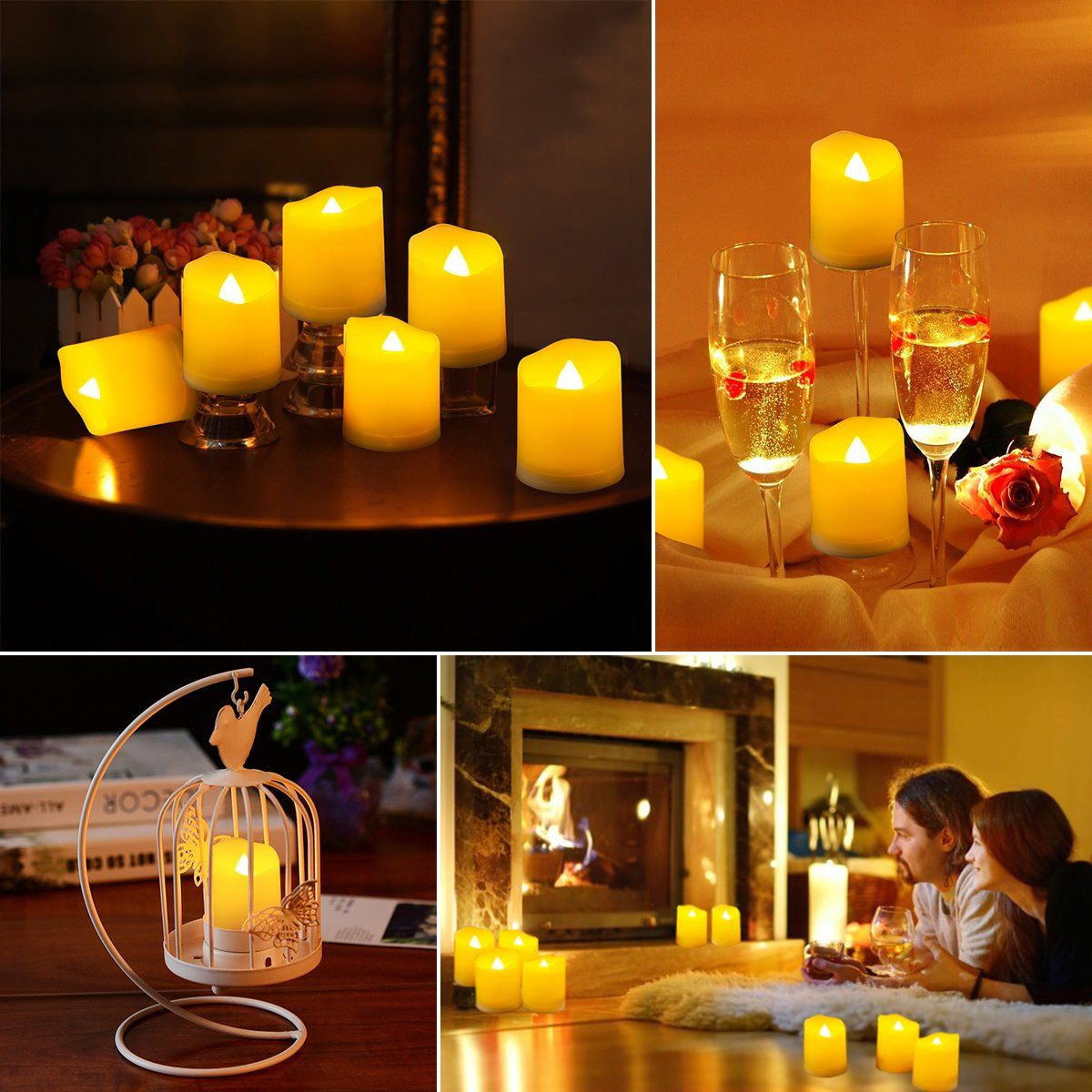 Oria Flameless Candles Led Candle Light Set Battery Operated Tea Lights With Flickering Bulb Gift Idea