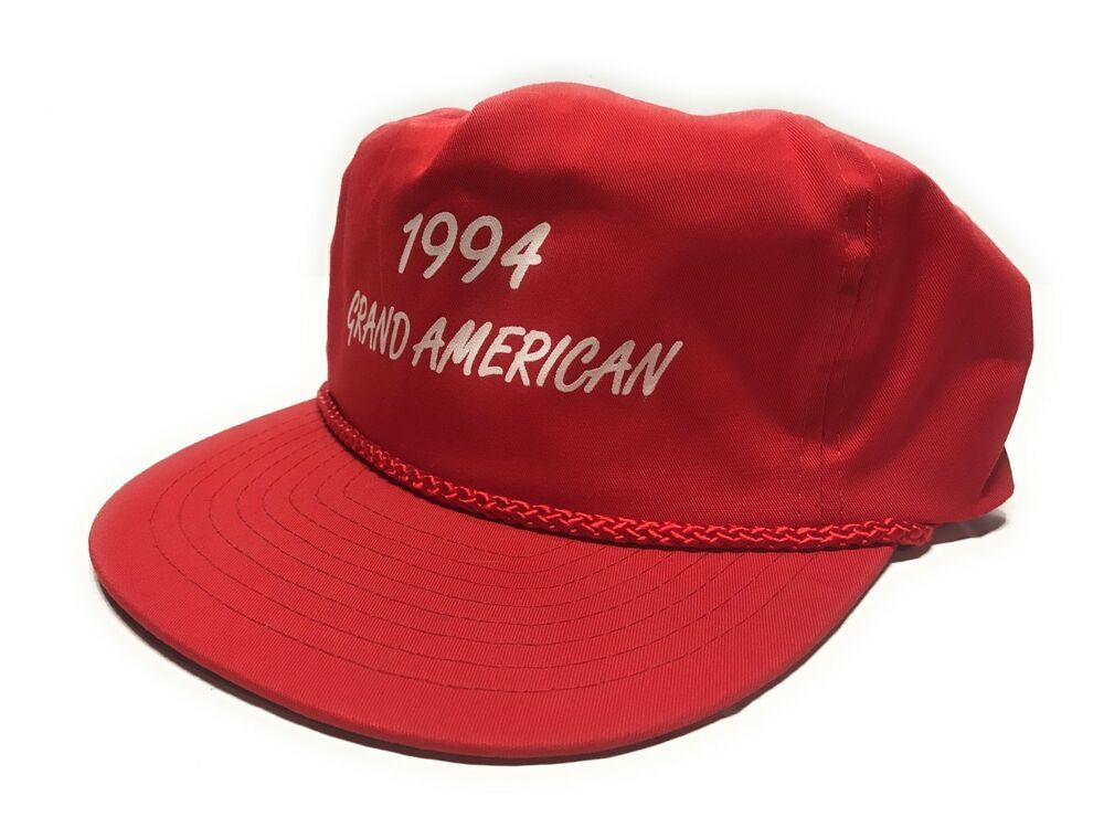 Vintage 90s 1994 Grand American Trapshooting Roped Red Hat Snapback Never Worn #Nissin #Snapback #Casual