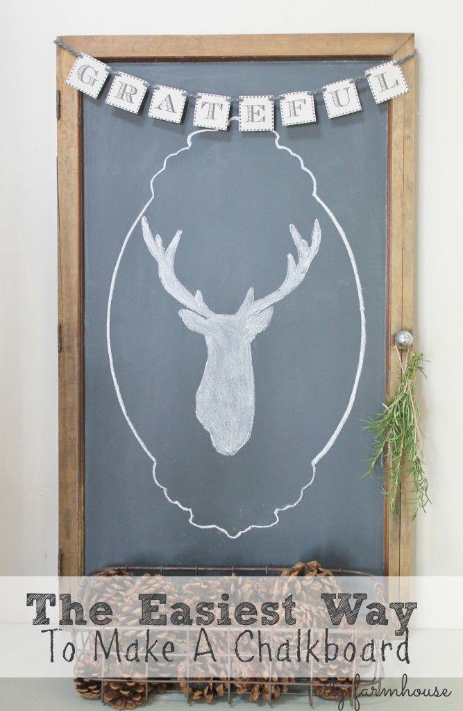 Easiest Way To Make A Chalkboard City Farmhouse