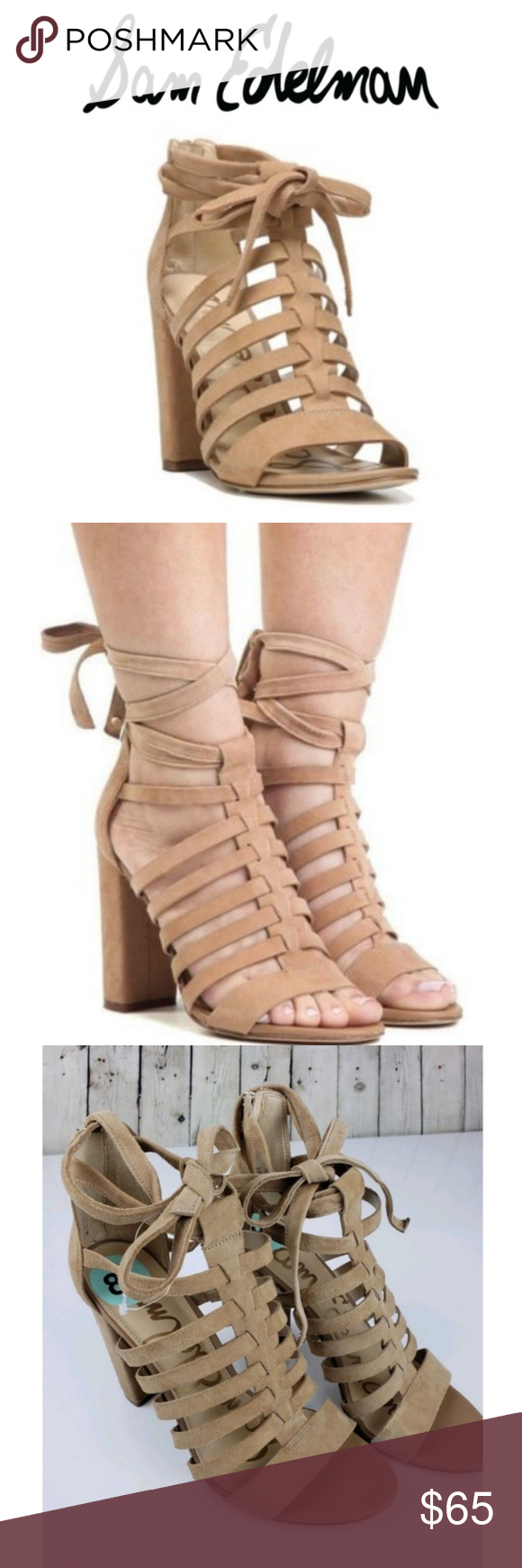 5b1c0a633a31eb Sam Edelman Heels Yarina Strappy Camel Suede 8.5 Sam Edelman Women s Heels Yarina  Strappy Sandal Camel Suede New Without Box Women s Size 8.5M Block heeled  ...
