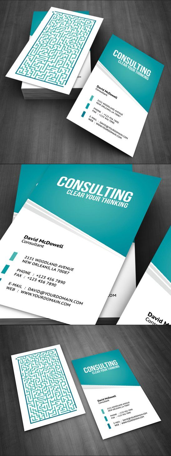 Consulting Business Card By Flowpixel On Deviantart Psychology Business Card Business Card Design Visiting Card Design