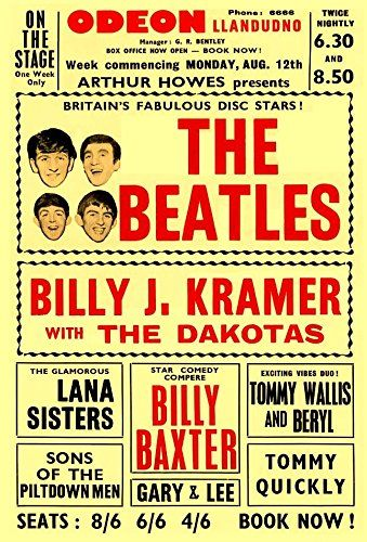 Pin by Becky Raymond on Music   Vintage concert posters, Beatles