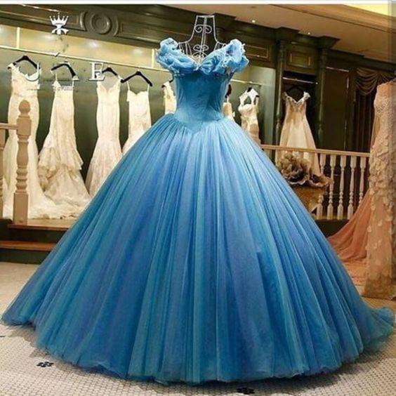 Vestidos de 15 að³â±os color azul electrico