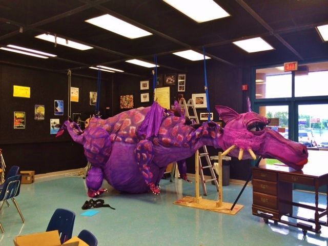 Shrek The Musical Dragon Puppet www.give-em-props-studio  info@give-em-props-studio.com