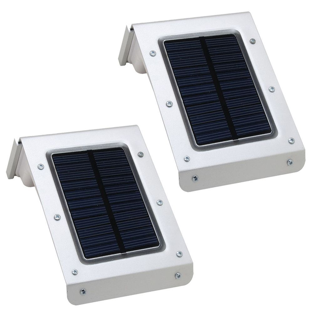 4 X 30 LED Solar Power Motion Sensor Wall Light Outdoor Garden Lamp Waterproof B