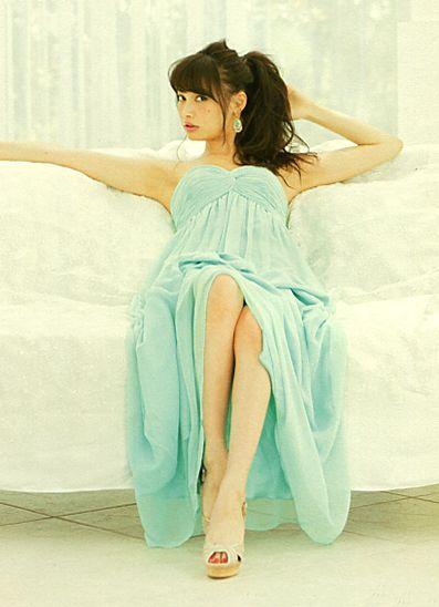 Model Aya Omasa Japanese Girls Fashion Magazine Non No Girlish Cute Style Pale Blue