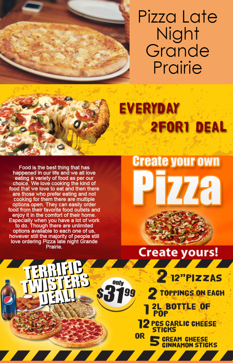 Find A Late Night Pizza Delivery Restaurant In Grande Prairie You Can Also Order Late For Fast Food Service Or Bu Food Chinese Food Delivery Food Delivery App