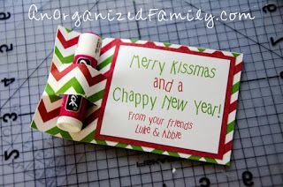 an organized family merry kissmas and chappy new year printable card for chapsticklip balm