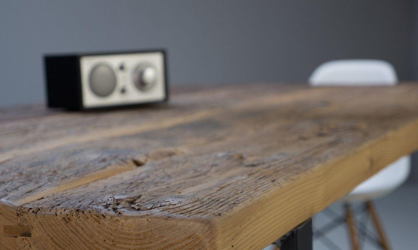 Bergen Table Sur Mesure En Vieux Bois Partir D Anciens Ponts  # Plancher De Grange Ancien