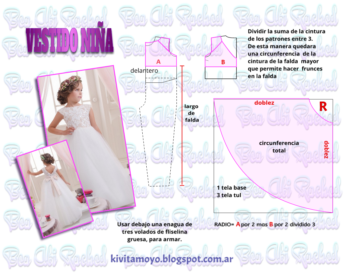 vestido imfantil | patrones | Pinterest