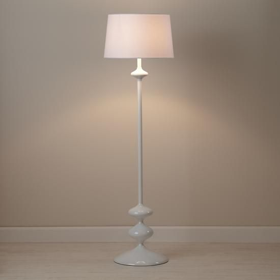 Floor Lamp Base Prepossessing Checkmate Floor Lamp Base White In Floor Lamps  The Land Of Nod Decorating Design