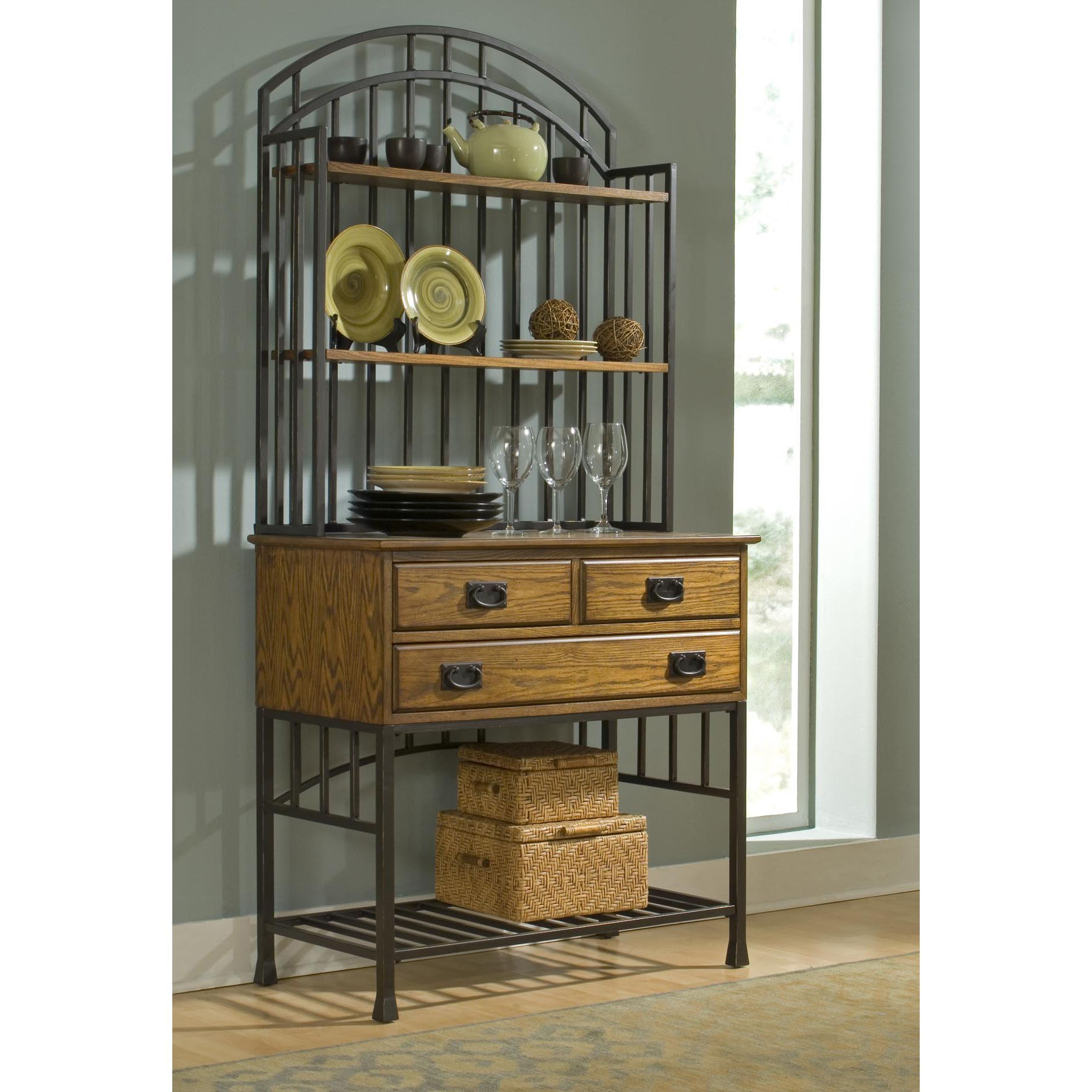 Add style and storage to your kitchen with this distressed oak ...
