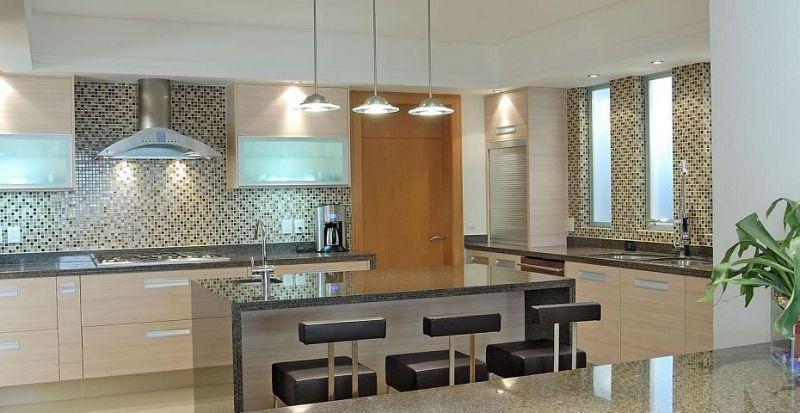 Cocinas Modernas Blancas Y Gris  Cocinas Integrales En Mexico - Cocinas Integrales Blancas