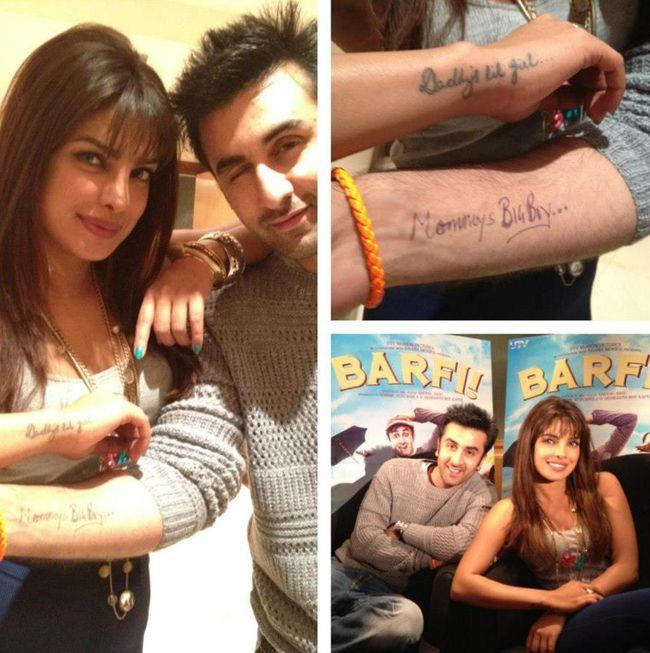 Check Out Ranbir Kapoor S Tattoo For Priyanka Chopra Priyanka Chopra Bollywood Celebrities Chopra