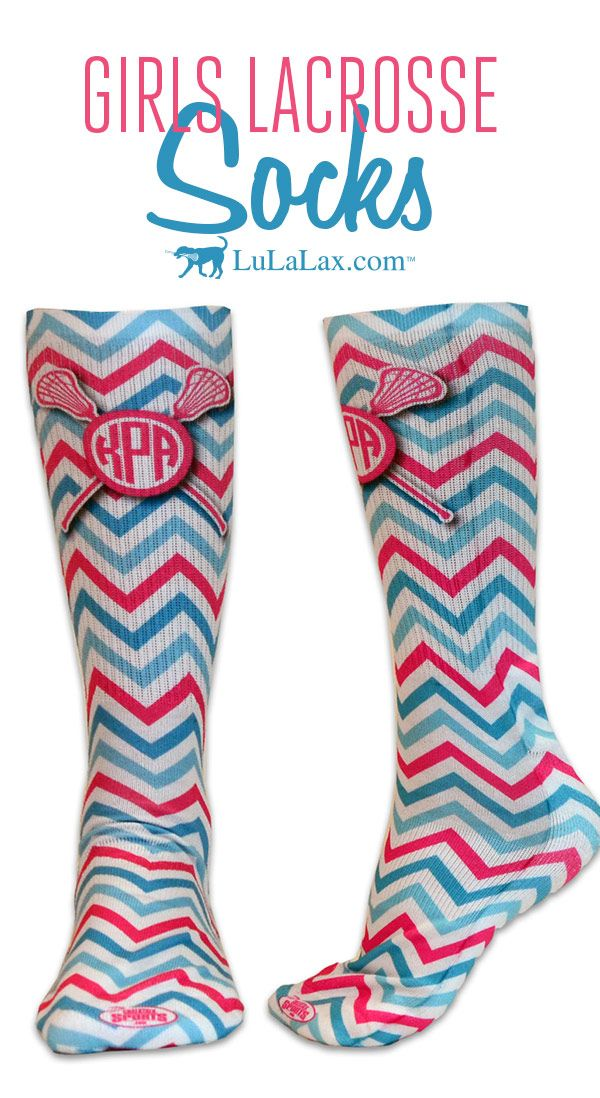 ba555b232 Loving these Monogram with Crossed Sticks and Chevron Pattern lacrosse socks!  They re super comfy and are perfect for playing on or off the field!