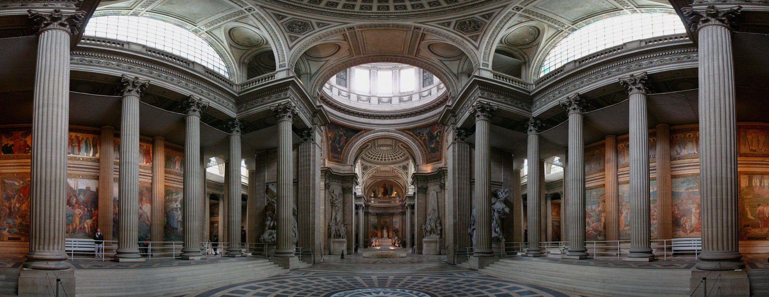pantheon paris vue panoramique de l 39 int rieur. Black Bedroom Furniture Sets. Home Design Ideas