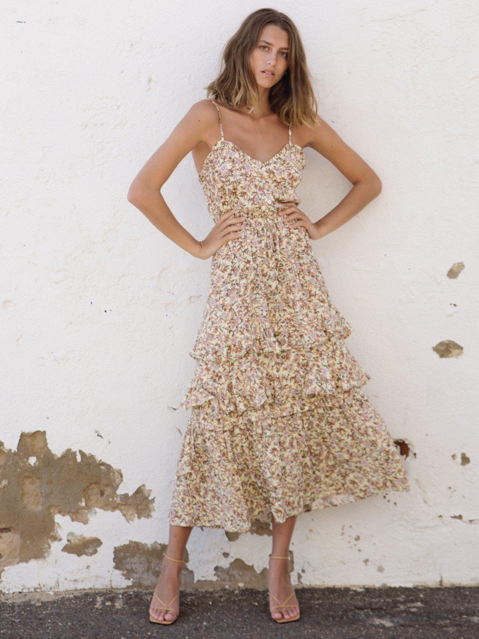Isabella Strappy Maxi Dress Kivari Maxi Dress Dresses Strappy Maxi Dress [ 2048 x 1536 Pixel ]