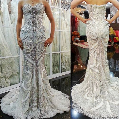 Hand Sewn Crystal Wedding Dress GHH 034 562 72 Click Photo To Blinged Out