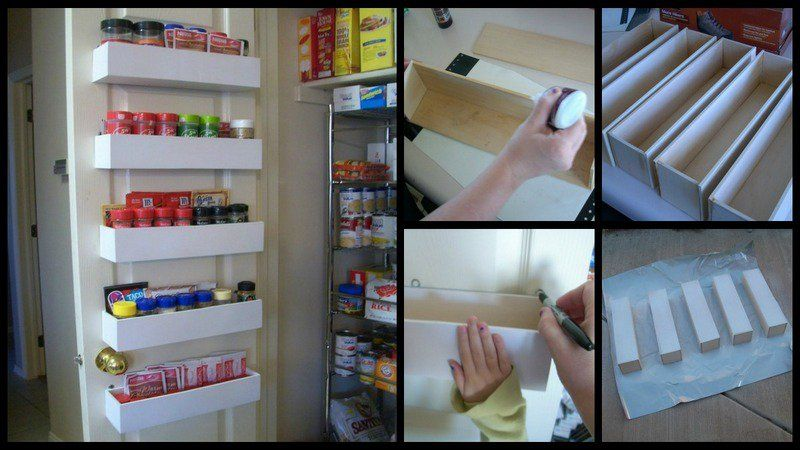 DIY Pantry Door Spice Racks kitchen/breakfast Pinterest Door