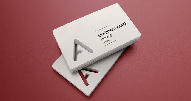 This Is A Special Business Card Mockup That Allows You To Showcase Original Cutout Designs