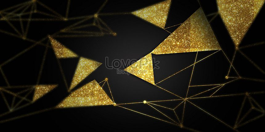 Banner Background Design Black And Gold