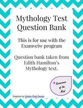 Greek Mythology Test Bank | Middle School English | Mythology, Greek