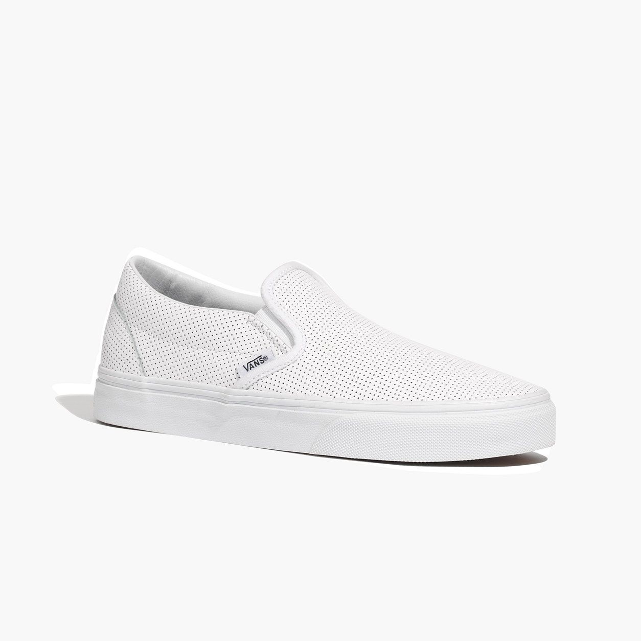 Vans® Classic Slip-Ons in Perforated Leather : SALE | Madewell | La ...