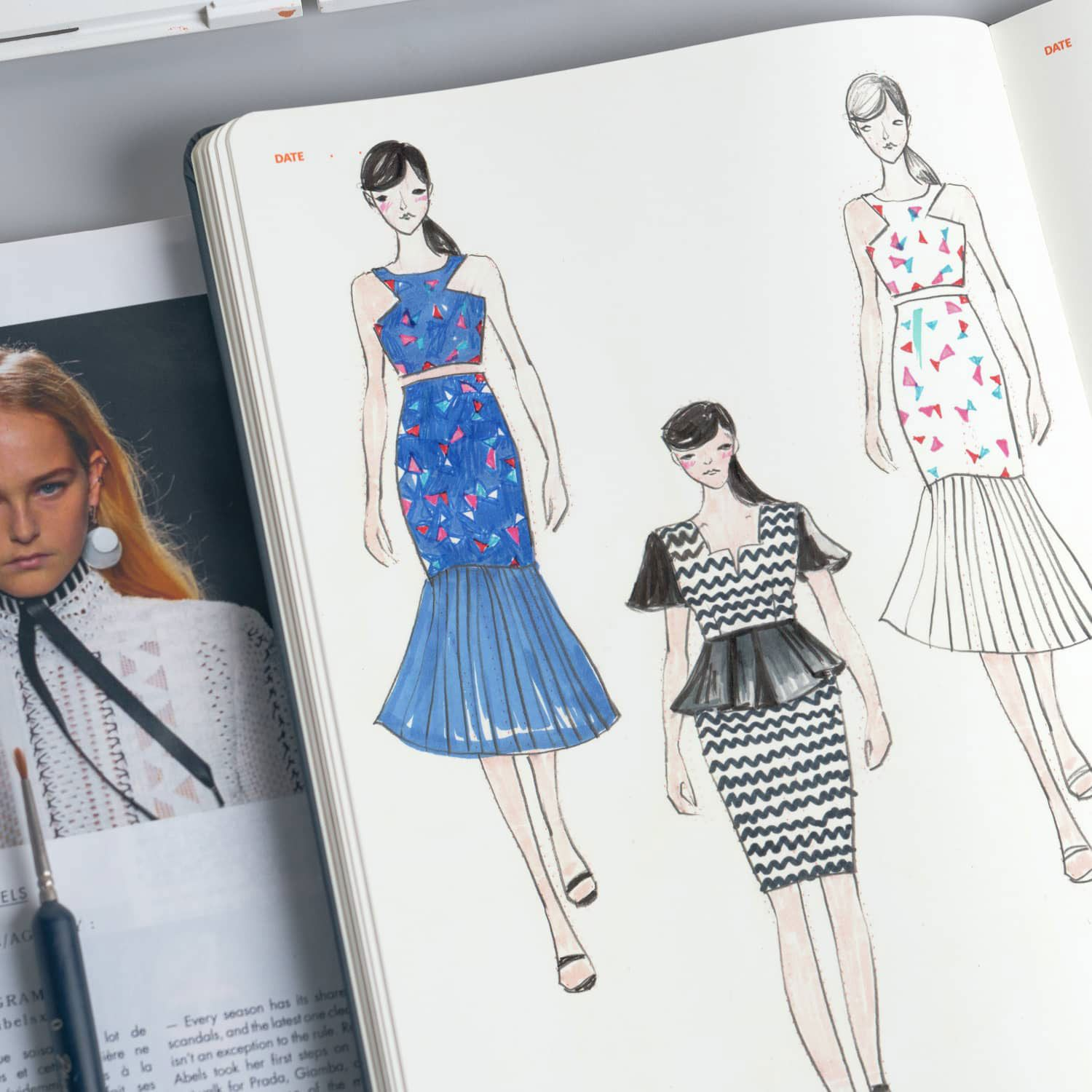 A Complete Guide To Fashion Sketchbooks Seamwork Magazine Sketch Book Fashion Sketchbook Fashion Illustration Sketches