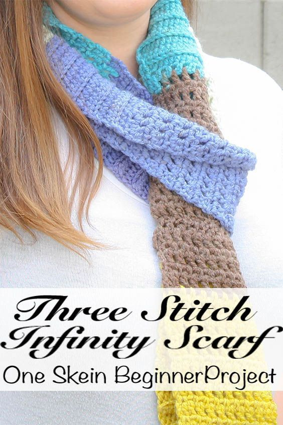 Three Stitch Infinity Scarf: Free Crochet Pattern | Crochet Scarves ...