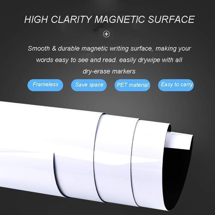 Zhidian Magnetic Whiteboard Sticker Dry Erase Whiteboard Contact Paper For Wall Dry Erase Board Wallpaper For School Office Home Includes 4 Markers Non Adhesive Back Dry Erase Board Dry Erase Whiteboard Magnetic White Board