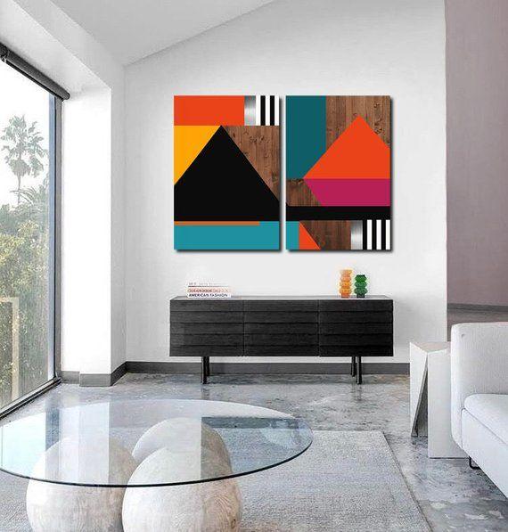 Modern Wall Art Geometric Abstract Painting Large Wall Art Etsy In 2021 Etsy Wall Art Large Wall Art Modern Wall Art