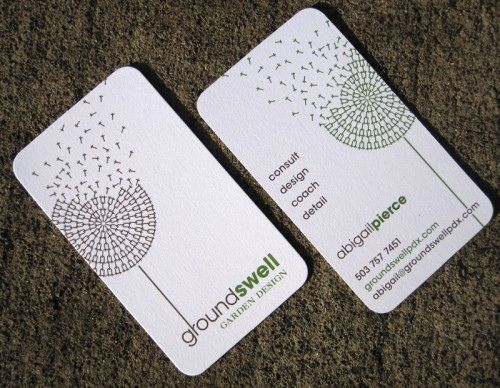 Garden Design Business Cards business cards for groundswell garden designprint pinball, via