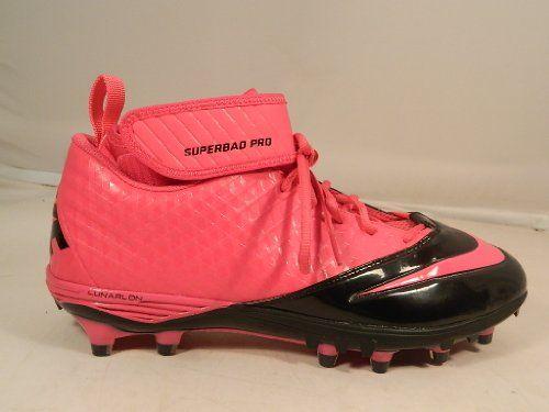 204a6b9b9535 Nike Lunar Super Bad Pro TD Football Cleats M 11.5 Pink Black