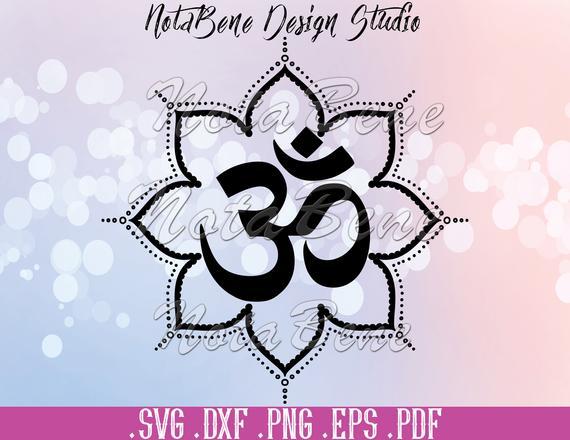 Yoga Meditation Om Symbol Svg Mandala Yoga Aum Om Sign Clipart Etsy Om Symbol Symbols Mandala Symbols