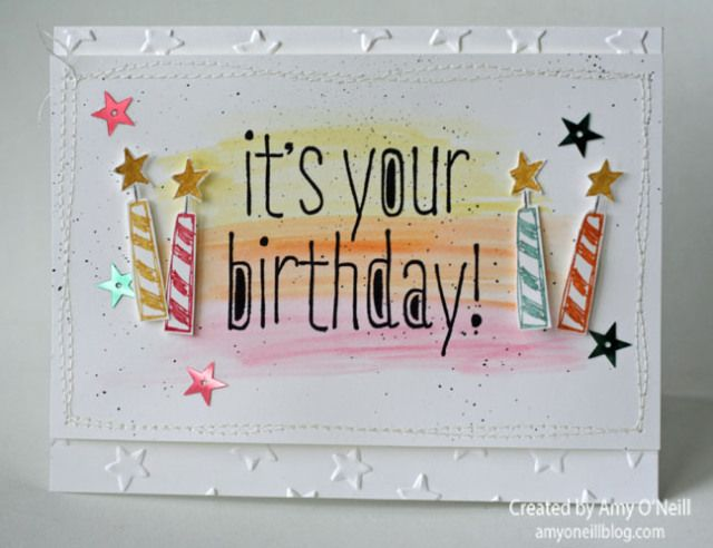 Big Birthday Su Big News Stamp Set Lucky Stars Ef By Amy O