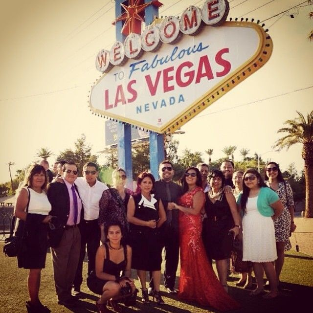 www.lasvegasweddingwagon.com Las Vegas Wedding Wagon Photo of the Day; We often get asked where is the best location for large groups when having a Wedding Wagon ceremony as many exciting locations can be a little limited due to space however there's nowhere is better than the Welcome to Las Vegas Sign!
