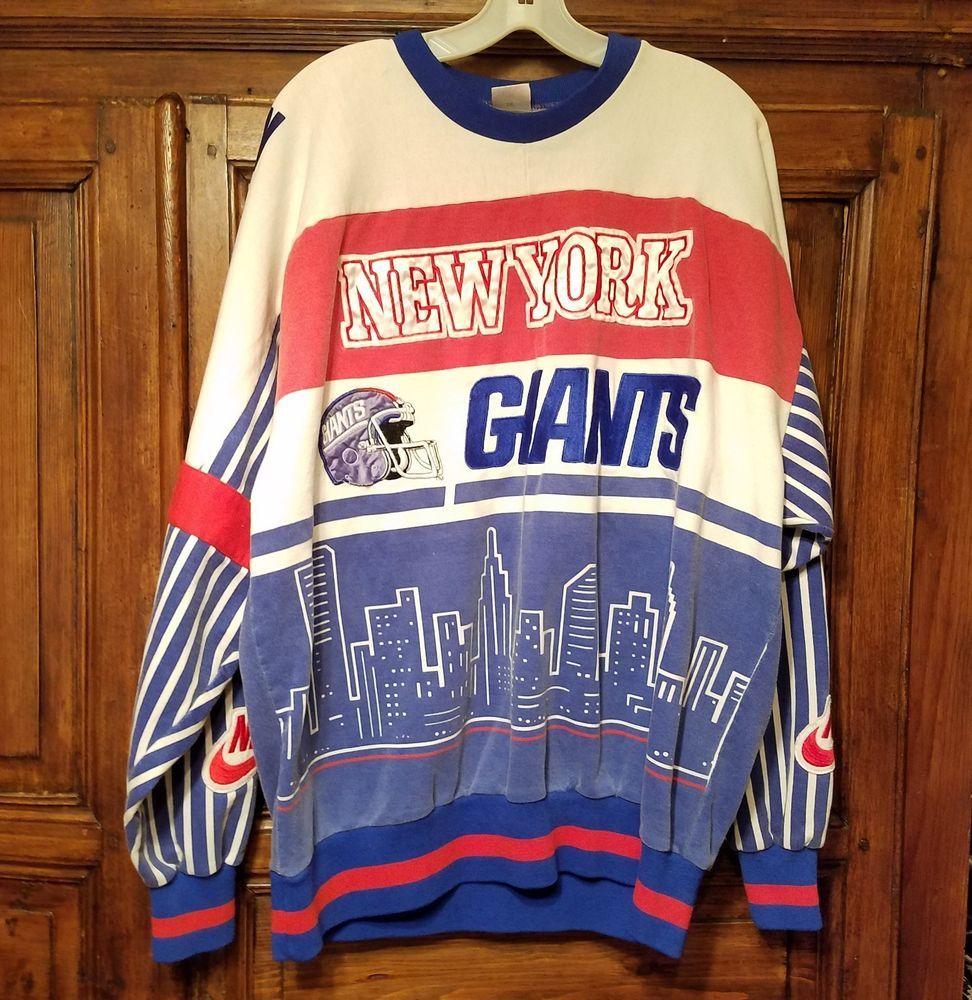 47d423de4 VTG 80s 90s Nike Gray Tag New York Giants Crewneck Sweatshirt Streetwear XL  AsIs  Nike  NewYorkGiants