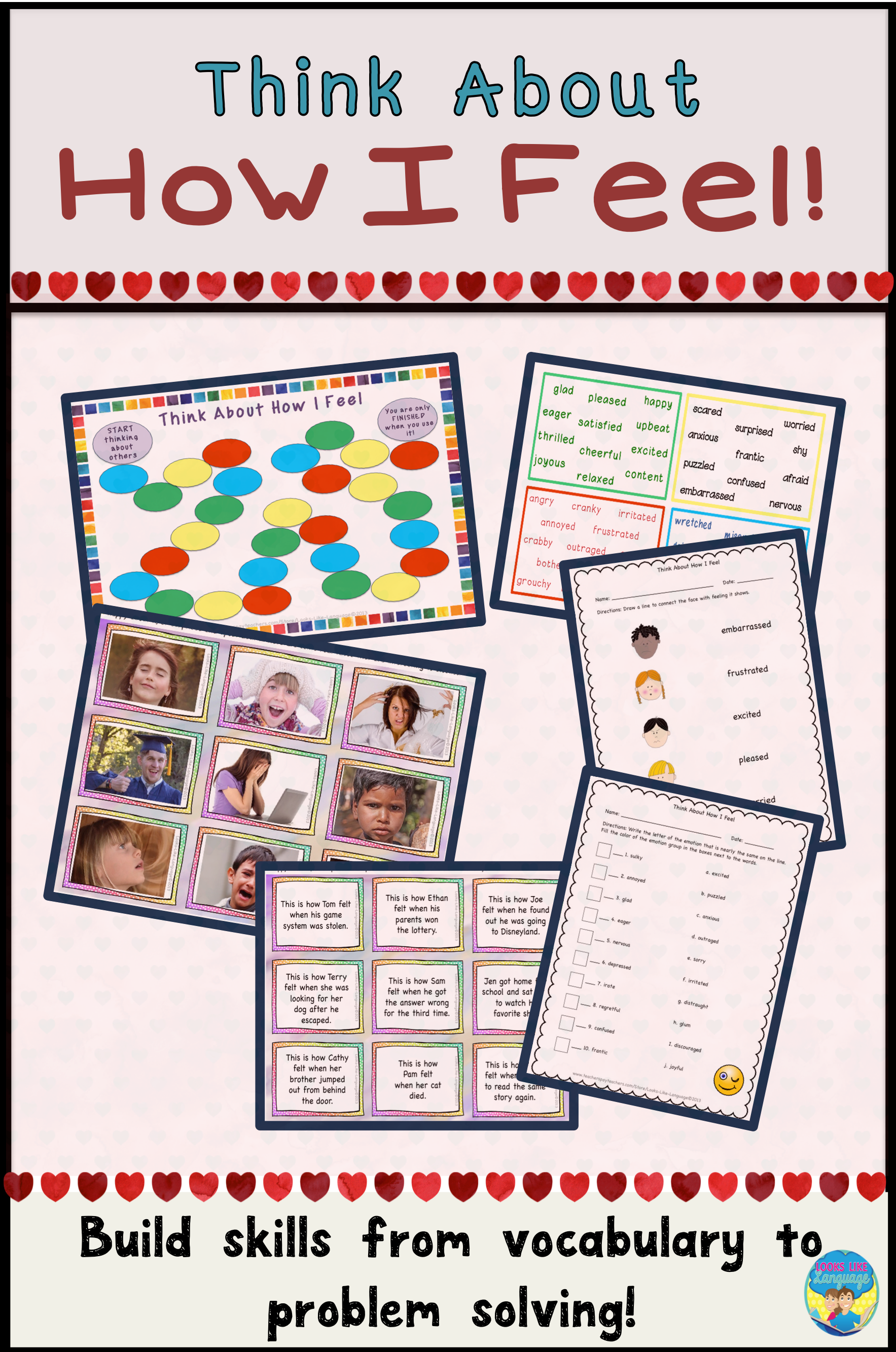 Social Skills Activities Emotion Vocabulary For Problem