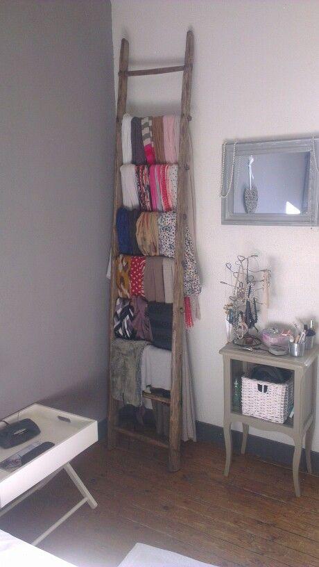 Ranger ses foulards | Idee rangement, Rangement foulard, Rangement écharpes