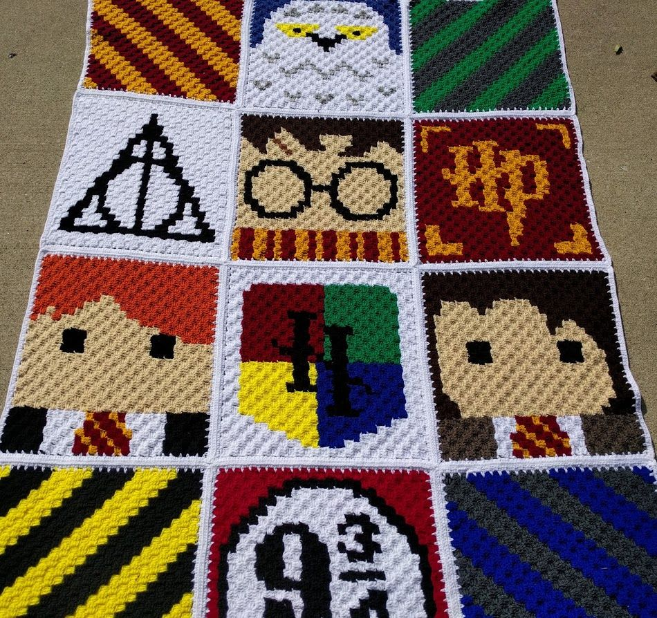 harry potter blanket harry potter harry potter crochet. Black Bedroom Furniture Sets. Home Design Ideas