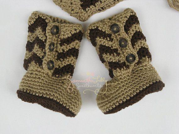 a01dd5556ac Chevron Boots, Baby Chevron boots, Chevron baby, Chevron crochet ...