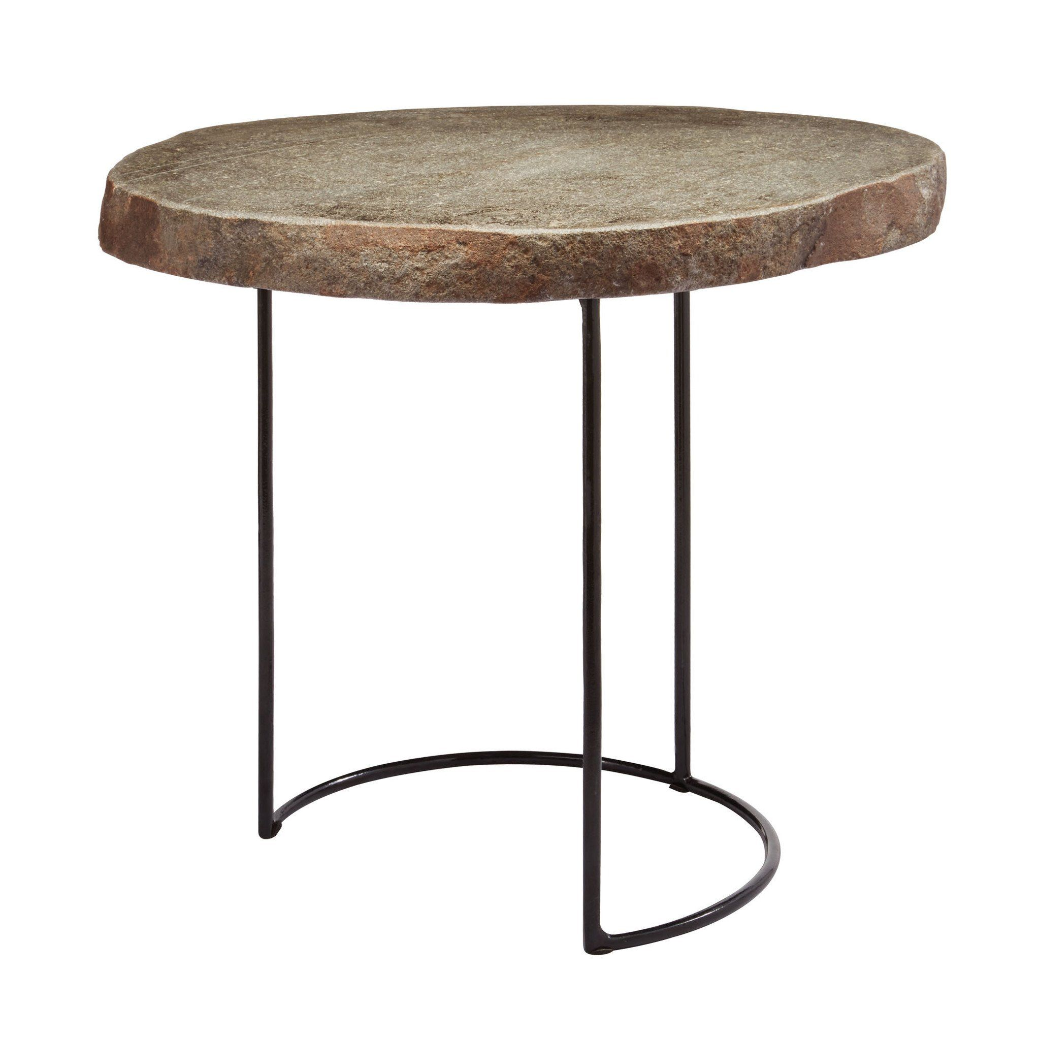 stone slab and wire frame table short products