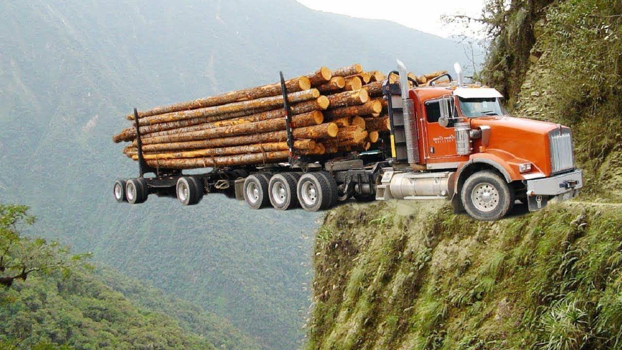 Best logging truck drivers skill with dangerous extreme