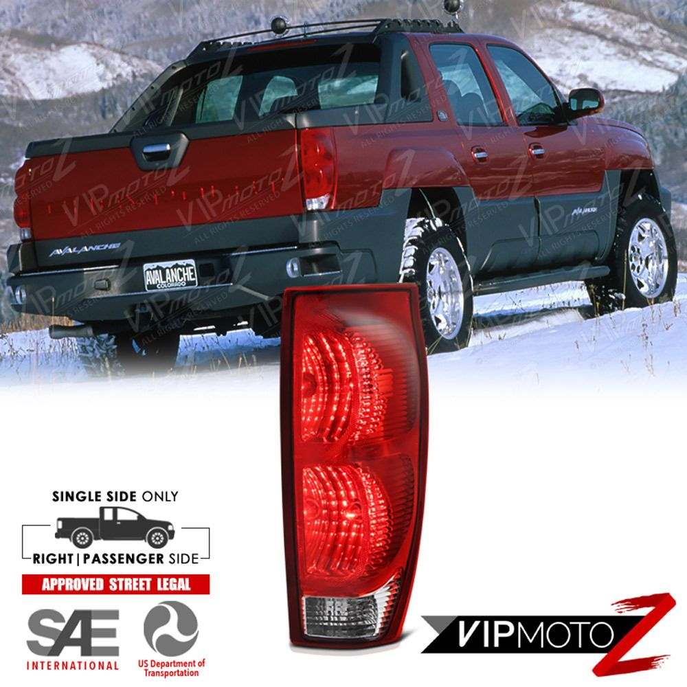 Right Passenger Side 2002 2006 Chevy Avalanche 1500 2500 Pickup Tail Lights Chevy Avalanche Chevy Avalanche
