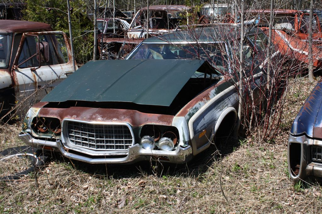 1972 Gran Torino Wagon Abandoned Cars Junkyard Cars Old