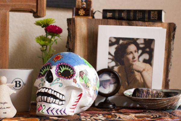 Dia de Los Muertos (Day of the Dead) ofrenda (altar) - skull