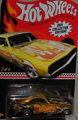 HOT WHEELS 2011 COLLECTOR EDITION '69 DODGE CHARGER FUNNY CAR  FREE SHIPPING!!
