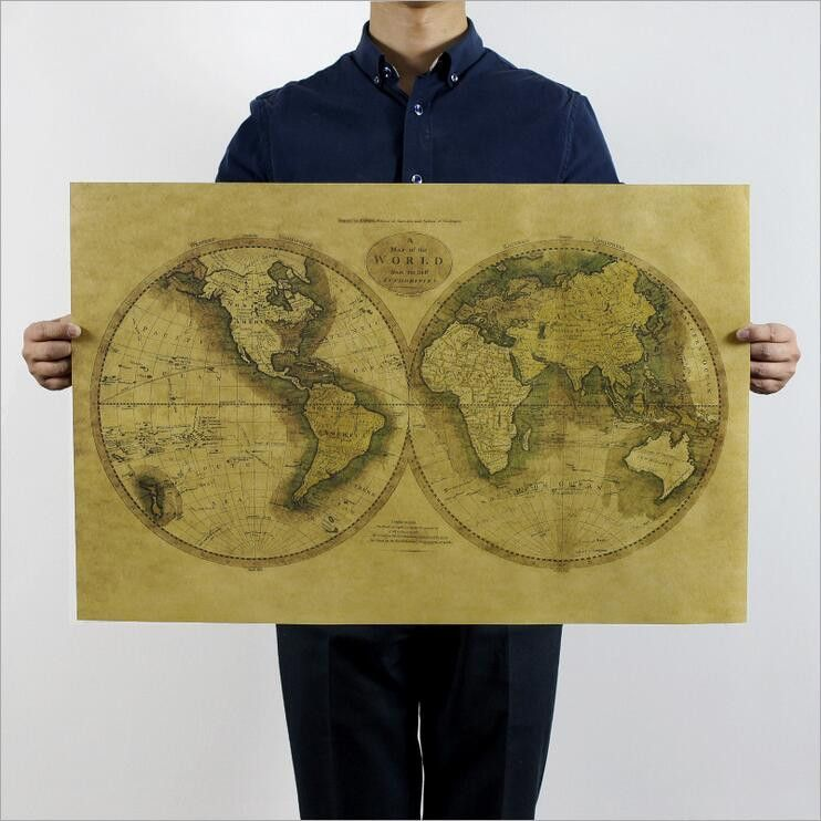Ancient world map postersticker products pinterest living ancient world map postersticker gumiabroncs Image collections