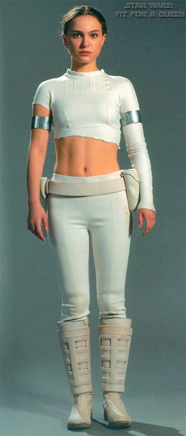 Star Wars Episode II Attack of the Clones Natalie Portman as Senator Padme Amidala Battle Arena Outfit - Front view  sc 1 st  Pinterest & padme white outfit episode 2 - Google Search | Costumes | Pinterest ...