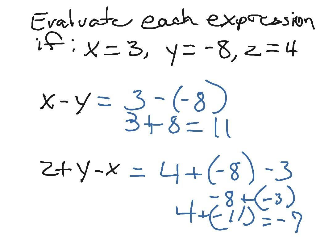 42 Math Worksheets For Grade 6 Algebraic Expressions In